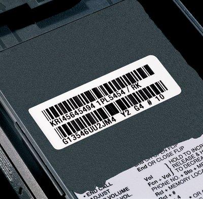 3698e etichetta cespiti