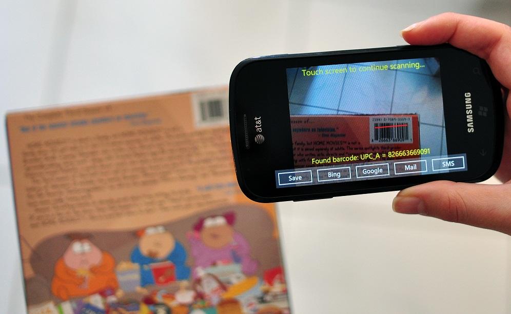 smartphone per lettura codice a barre