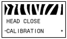 pannello stampante Zebra calibrazione