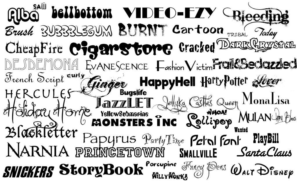 scelta del font