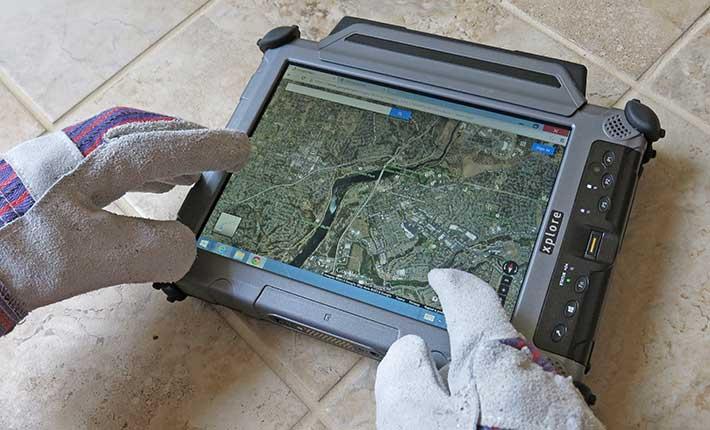 Tablet Xplore per utilizzo con guanti