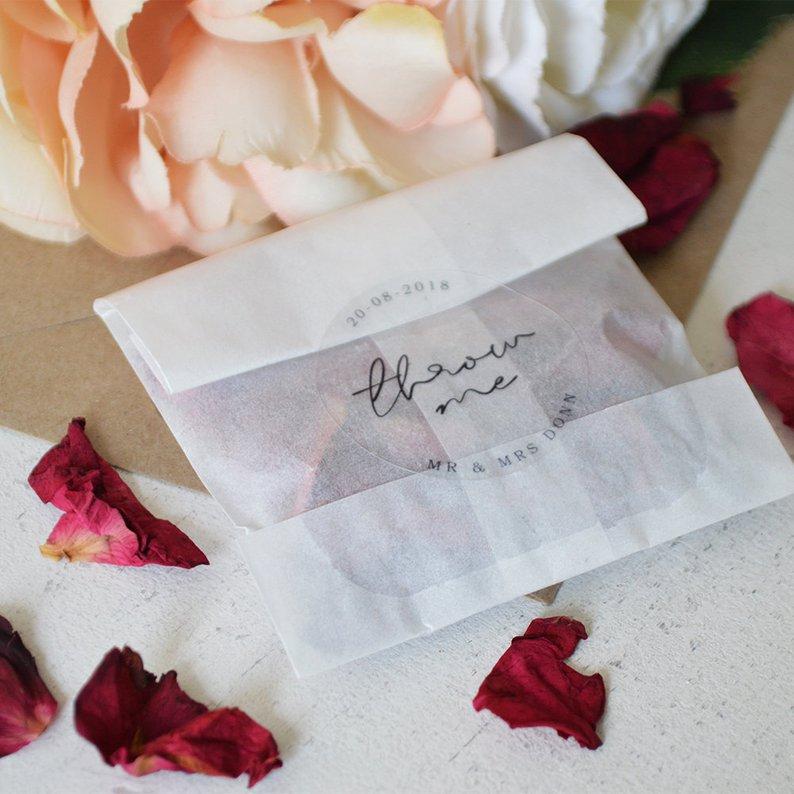 etichette chiudi busta per matrimonio