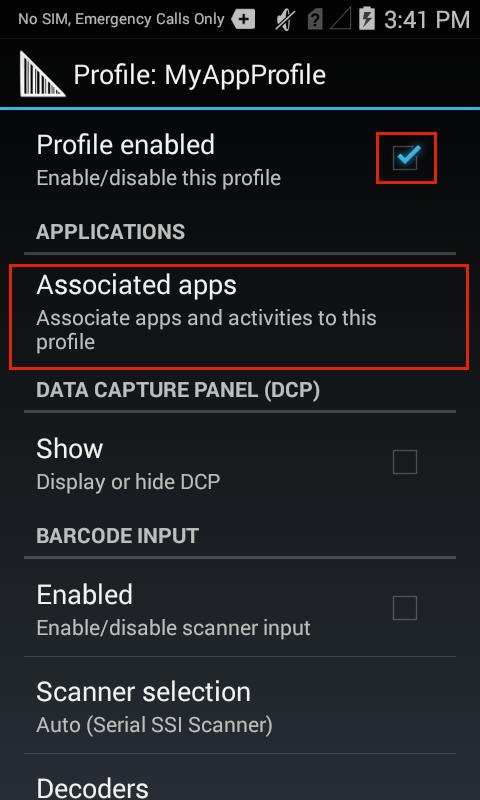 zebra datawedge abilitazione profili