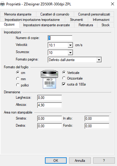 driver stampante Zebra ZD500R