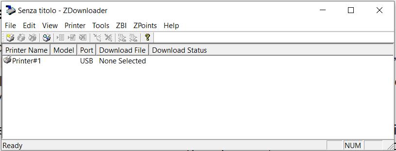 software per scaricare il firmware Zebra