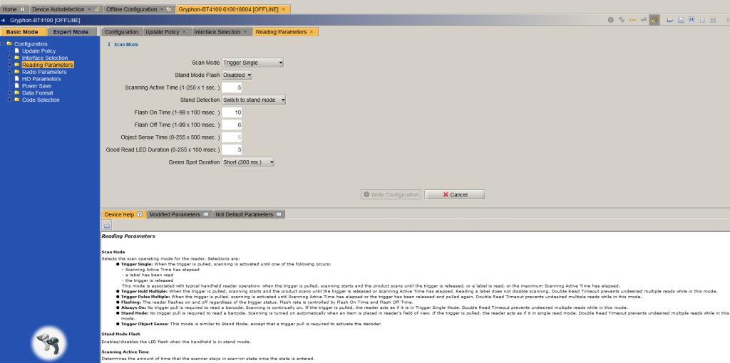 software Aladdin configurazione dei lettori