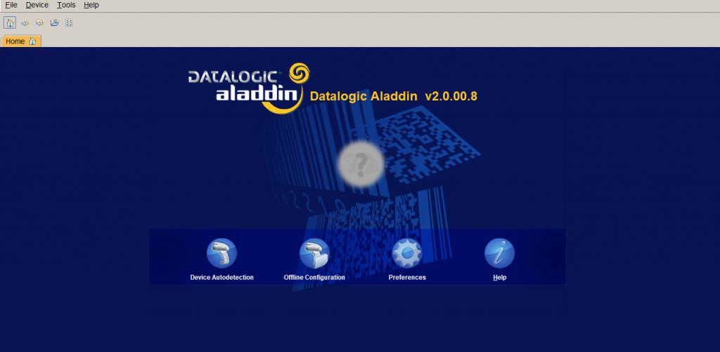 schermata iniziale software Aladdin