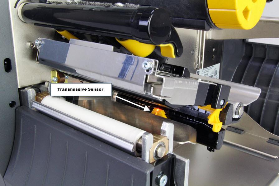 stampante Zebra ZT400 sensore trasmissivo