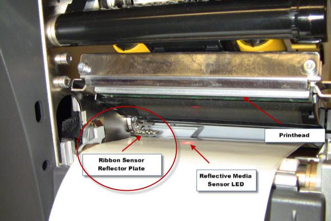 sensori ribbon stampanti Zebra