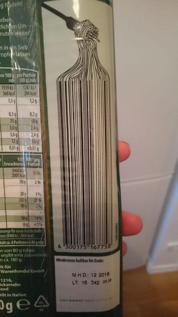 codice a barre pasta