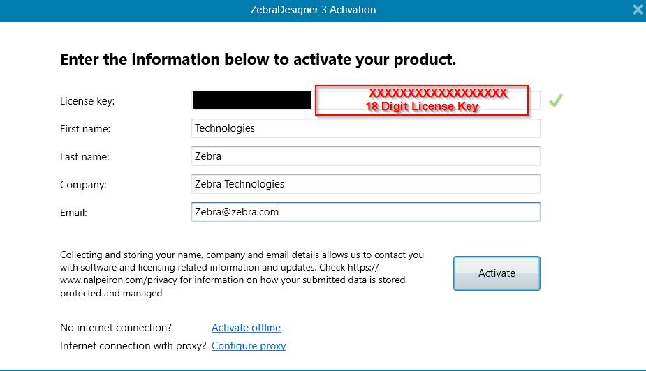 attivazione licenza zebradesigner pro v3