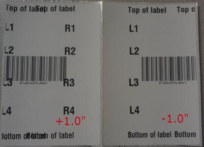 margine sinistro etichette nelle stampanti Zebra