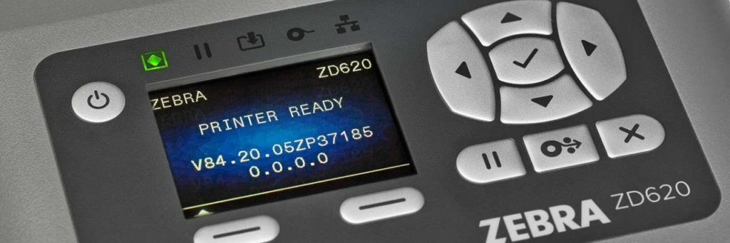 stampante Zebra con display LCD
