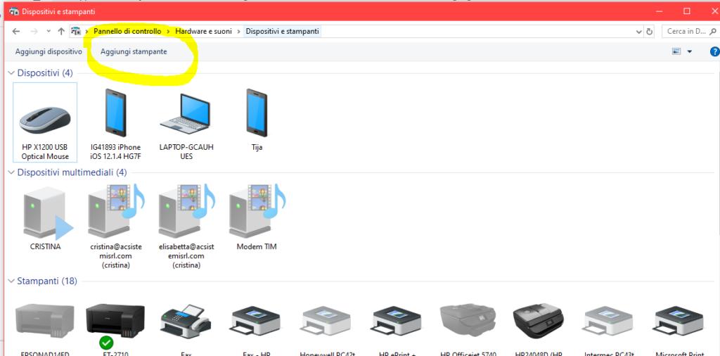 aggiunta stampante Zebra a windows 10