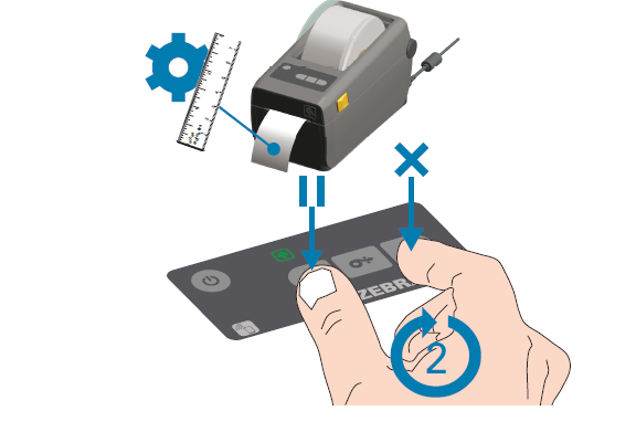calibrazione della stampante Zebra ZD410