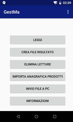 applicazione Android per la gestione del magazzino