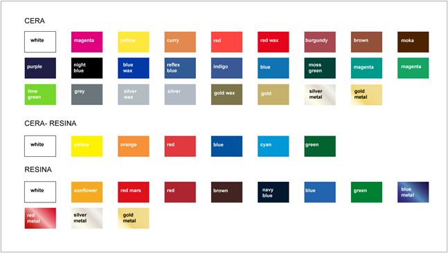 cartella colori nastri a trasferimento termico
