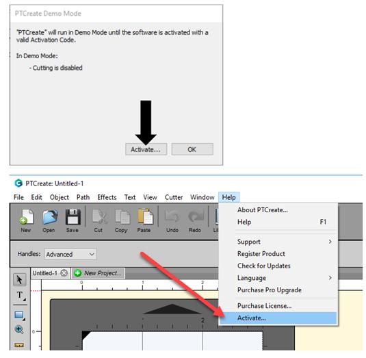PtCreate software per la stampa  e il taglio di etichette
