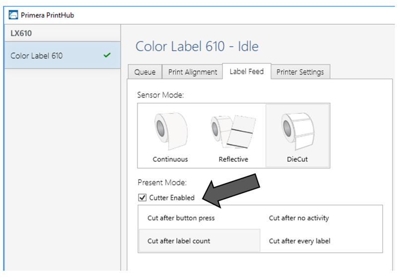 opzioni taglierina per stampante Primera LX610
