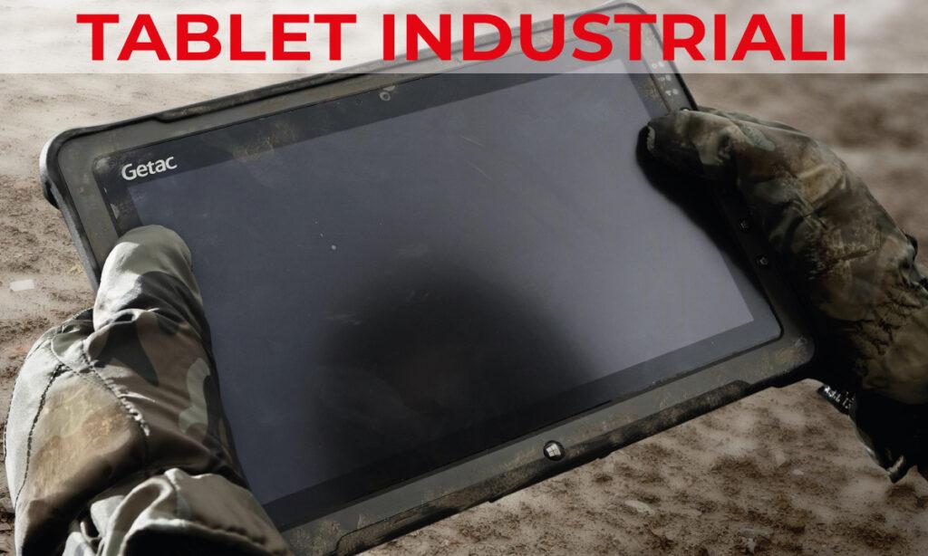 tablet industriali con lettore di codice a barre
