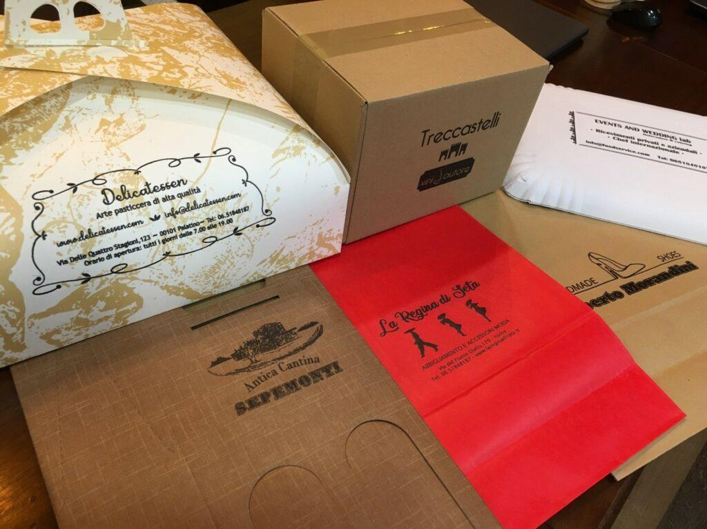 stampe personalizzate con marcatore k100 su cartoni e imballi