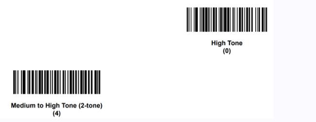 suono del beep  nei lettori di codice a barre Zebra