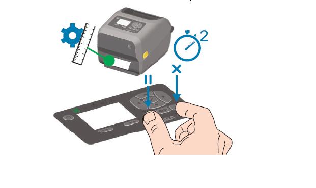 calibrazione e allineamento etichette stampante Zebra ZD420