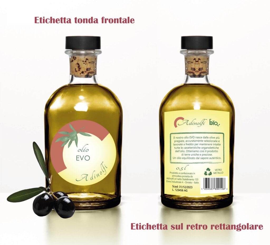 etichetta-per-olio-EVO fronte-e-retro GRAFICA ETICHETTE