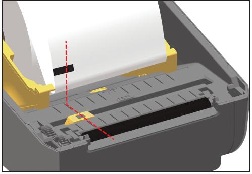 posizione del sensore nella zd420 per etichette con segni neri