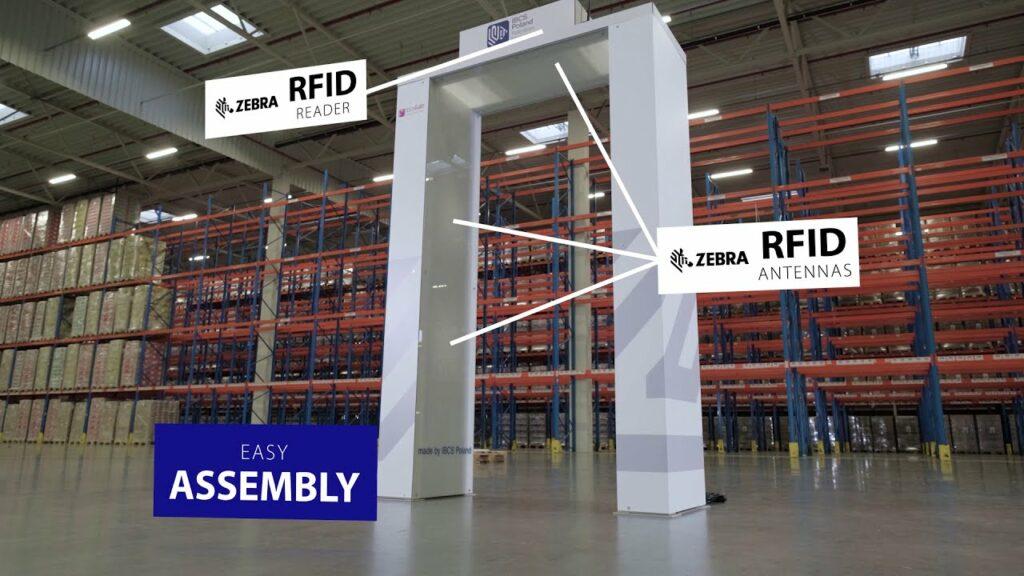 varco RFID con antenne  e lettori Zebra
