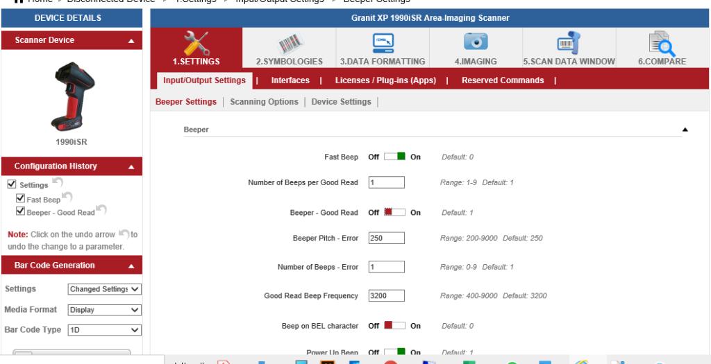 Ezconfig software di configurazione lettore di codice a barre Honeywell