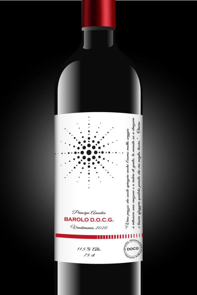 Etichetta adesiva per vino